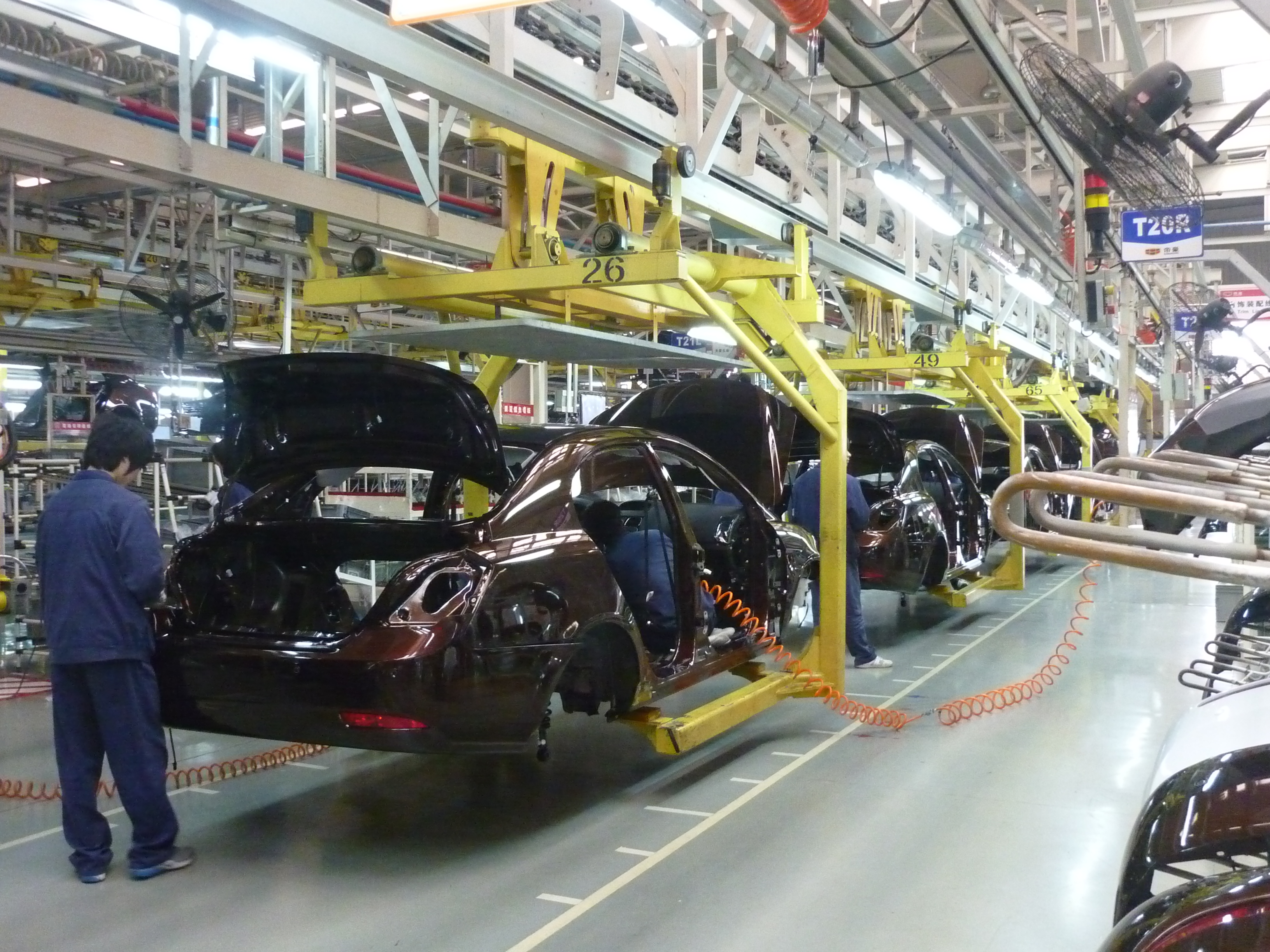 Geely assembly line in beilun ningbo
